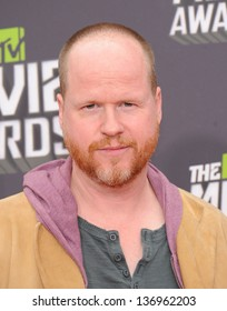 LOS ANGELES - APR 14:  Joss Whedon arrives to the Mtv Movie Awards 2013  on April 14, 2013 in Culver City, CA.