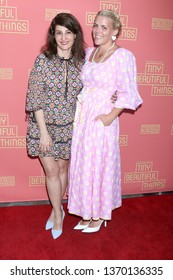 "LOS ANGELES - APR 14:  Nia Vardalos, Busy Philipps at the ""Tiny Beautiful Things"" Opening Night at the Pasadena Playhouse on April 14, 2019 in Pasadena, CA"