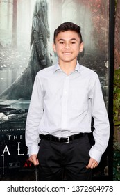 "LOS ANGELES - APR 15:  Aiden Lewandowski at the ""The Curse Of La Llorona"" Premiere at the Egyptian Theater on April 15, 2019 in Los Angeles, CA"