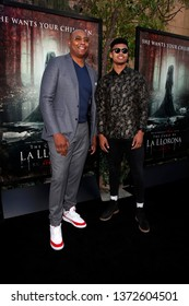 """LOS ANGELES - APR 15:  Caron Butler, Caron Butler Jr at the """"The Curse Of La Llorona"""" Premiere at the Egyptian Theater on April 15, 2019 in Los Angeles, CA"""