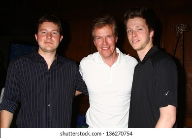 LOS ANGELES - APR 15:  Jack Wagner, with sons Harrison and Peter at the Jack Wagner Celebrity Golf Tournament  at the Lakeside Golf Club on April 15, 2013 in Toluca Lake, CA