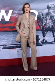 "LOS ANGELES - APR 16:  Evan Rachel Wood arrives for HBO's ""Westworld"" Season 2 Premiere on April 16, 2018 in Hollywood, CA"