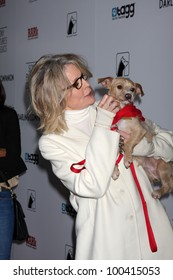 """LOS ANGELES - APR 17:  Diane Keaton and Rescue dogs up for adoption arrives at the """"Darling Companion"""" Premiere at Egyptian Theater on April 17, 2012 in Los Angeles, CA"""