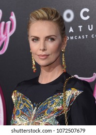 "LOS ANGELES - APR 18:  Charlize Theron arrives to the""Tully"" Los Angeles Premiere  on April 18, 2018 in Hollywood, CA"