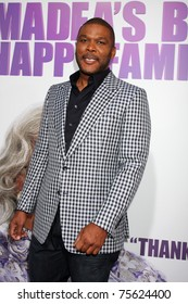 """LOS ANGELES - APR 19:  Tyler Perry arrives at the """"Madea's Big Happy Family"""" Premiere at ArcLight Cinemas Cinerama Dome on April 19, 2011 in Los Angeles, CA.."""