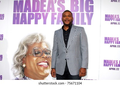 """LOS ANGELES - APR 19:  Tyler Perry at the """"Madea's Big Happy Family"""" Premiere at ArcLight Cinemas Cinerama Dome in Los Angeles, California on April 19, 2011."""