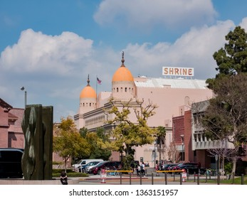 Los Angeles, APR 2: Exterior view of Shrine Auditorium and Expo Hall on APR 2, 2019 at Los Angeles, California