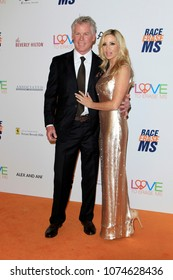 LOS ANGELES - APR 20:  David C Meyer, Camille Grammer at the 25th Annual Race To Erase MS Gala on the Beverly Hilton Hotel on April 20, 2018 in Beverly Hills, CA