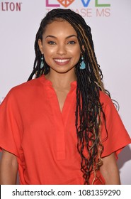LOS ANGELES - APR 20:  Logan Browning arrives to the Race to Erase MS 25th Anniversary Gala  on April 20, 2018 in Hollywood, CA