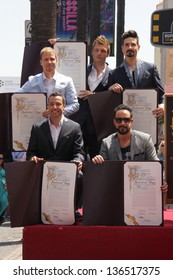 """LOS ANGELES - APR 22:  Backstreet Boys at the ceremony for the """"Backstreet Boys"""" Star on the Walk of Fame at the Hollywood Walk of Fame on April 22, 2013 in Los Angeles, CA"""