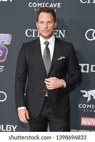 """LOS ANGELES - APR 22:  Chris Pratt arrives for the """"Avengers: End Game"""" LOs Angeles Premiere on April 22, 2019 in Los Angeles, CA"""