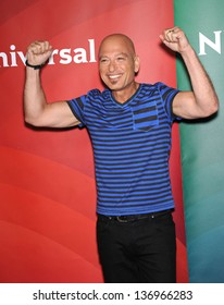 LOS ANGELES - APR 22:  Howie Mandel arrives to the NBC Universal Summer Press Day 2013  on April 22, 2013 in Pasadena, CA.