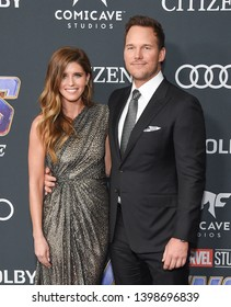 """LOS ANGELES - APR 22:  Katherine Schwarzenegger and Chris Pratt arrives for the """"Avengers: End Game"""" LOs Angeles Premiere on April 22, 2019 in Los Angeles, CA"""