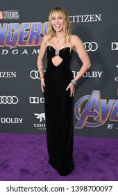 """LOS ANGELES - APR 22:  Miley Cyrus arrives for the """"Avengers: End Game"""" LOs Angeles Premiere on April 22, 2019 in Los Angeles, CA"""