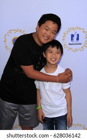 LOS ANGELES - APR 23:  Hudson Yang, Ian Chen at the Safe Kids Day at the Smashbox Studios on April 23, 2017 in Culver City, CA