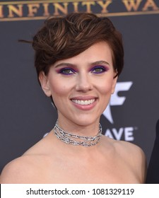 LOS ANGELES - APR 23:  Scarlett Johansson arrives to the Marvel Studios 'Avengers: Infinity War' World Premiere  on April 23, 2018 in Hollywood, CA