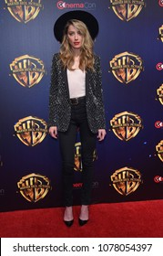 LOS ANGELES - APR 24:  Amber Heard arrives for the Warner Bros panal at CinemaCon 2018 on April 24, 2018 in Las Vegas, NV
