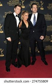 LOS ANGELES - APR 24: Chad Duell, Kristen Alderson, Frank Valentini at The 42nd Daytime Creative Arts Emmy Awards Gala at the Universal Hilton Hotel on April 24, 2015 in Los Angeles, California