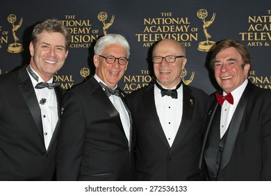 LOS ANGELES - APR 24: Harlan Boll, Bob Mauro, Charles L Dages, David Michaels at The 42nd Daytime Creative Arts Emmy Awards Gala at the Universal Hilton Hotel on April 24, 2015 in Los Angeles, CA