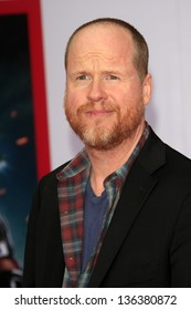 """LOS ANGELES - APR 24:  Joss Whedon arrives at the """"Iron Man 3"""" LA premiere at the El Capitan Theater on April 24, 2013 in Los Angeles, CA"""