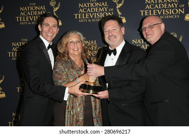 LOS ANGELES - APR 24: Mike Fiamingo, Judie Henninger, Joseph Lumer, Christopher Lewis at The 42nd Daytime Creative Arts Emmy Awards Gala at the Universal Hilton on April 24, 2015 in Los Angeles, CA