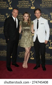 LOS ANGELES - APR 24: Sean Carrigan, Hunter King, Lachlan Buchanan at The 42nd Daytime Creative Arts Emmy Awards Gala at the Universal Hilton Hotel on April 24, 2015 in Los Angeles, California