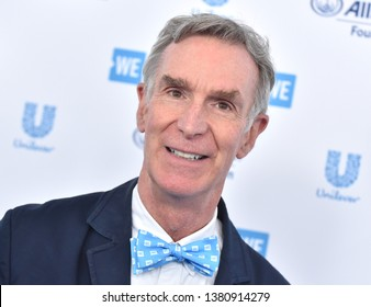 LOS ANGELES - APR 25:  Bill Nye arrives for WE Day California 2019 on April 25, 2019 in Inglewood, CA