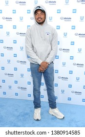 LOS ANGELES - APR 25:  Chance The Rapper arrives for WE Day California 2019 on April 25, 2019 in Inglewood, CA