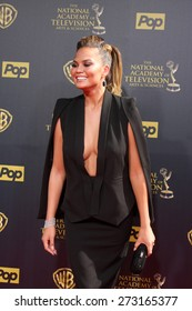 LOS ANGELES - APR 26:  Chrissy Teigen at the 2015 Daytime Emmy Awards at the Warner Brothers Studio Lot on April 26, 2015 in Burbank, CA