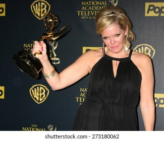 LOS ANGELES - APR 26:  Maura West at the 2015 Daytime Emmy Awards at the Warner Brothers Studio Lot on April 26, 2015 in Los Angeles, CA