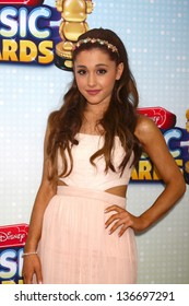LOS ANGELES - APR 27:  Ariana Grande arrives at the Radio Disney Music Awards 2013 at the Nokia Theater on April 27, 2013 in Los Angeles, CA