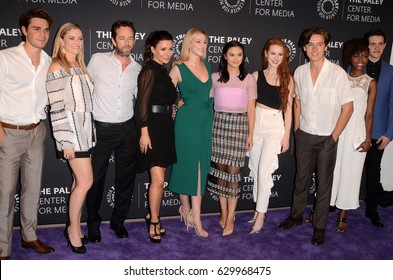 """LOS ANGELES - APR 27:  Riverdale cast members at the """"Riverdale"""" Screening and Conversation at the Paley Center for Media on April 27, 2017 in Beverly Hills, CA"""