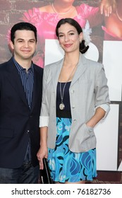 """LOS ANGELES - APR 27:  Samm Levine & date arriving at the """"Bridesmaids"""" Premiere at Village Theater on April 27, 2011 in Westwood, CA.."""
