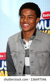 LOS ANGELES - APR 27:  Trevor Jackson arrives at the Radio Disney Music Awards 2013 at the Nokia Theater on April 27, 2013 in Los Angeles, CA