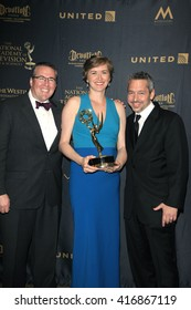 LOS ANGELES - APR 29: Jeff Warren, Sara McKellogg Lane, Ryan Moore at The 43rd Daytime Creative Arts Emmy Awards Gala at the Westin Bonaventure Hotel on April 29, 2016 in Los Angeles, California