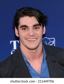 """LOS ANGELES - APR 29:  RJ Mitte arrives to the """"Mom's Night Out"""" Los Angeles Premiere  on April 29, 2014 in Los Angeles, CA."""