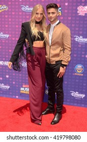 LOS ANGELES - APR 29:  Veronica Dunne, Max Ehrich at the 2016 Radio Disney Music Awards at the Microsoft Theater on April 29, 2016 in Los Angeles, CA