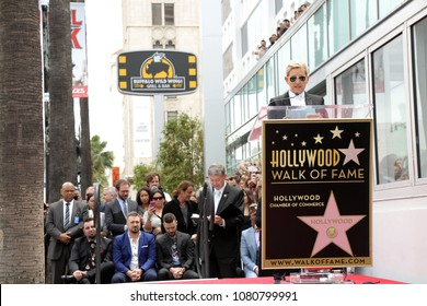 LOS ANGELES - APR 30:  Ellen DeGeneres at the *NSYNC Star Ceremony  on the Hollywood Walk of Fame on April 30, 2018 in Los Angeles, CA