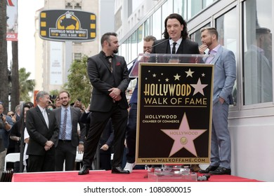LOS ANGELES - APR 30:  JC Chasez, NSYNC at the *NSYNC Star Ceremony  on the Hollywood Walk of Fame on April 30, 2018 in Los Angeles, CA