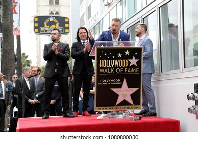 LOS ANGELES - APR 30:  Joey Fatone, NSYNC at the *NSYNC Star Ceremony  on the Hollywood Walk of Fame on April 30, 2018 in Los Angeles, CA
