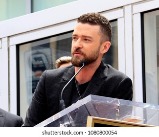 LOS ANGELES - APR 30:  Justin Timberlake at the *NSYNC Star Ceremony  on the Hollywood Walk of Fame on April 30, 2018 in Los Angeles, CA
