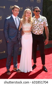 LOS ANGELES - APR 30:  Lucas Adams, Carrie Keegan, Kyler Pettis at the 44th Daytime Emmy Awards - Arrivals at the Pasadena Civic Auditorium on April 30, 2017 in Pasadena, CA