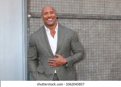 "LOS ANGELES - APR 4:  Dwayne Johnson, The Rock at the ""Rampage"" Premiere at Microsoft Theater on April 4, 2018 in Los Angeles, CA"