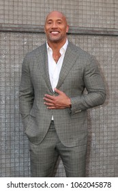 """LOS ANGELES - APR 4:  Dwayne Johnson, The Rock at the """"Rampage"""" Premiere at Microsoft Theater on April 4, 2018 in Los Angeles, CA"""