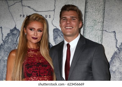 """LOS ANGELES - APR 4:  Paris Hilton, Chris Zylka at the Premiere Of HBO's """"The Leftovers"""" Season 3 at Avalon Hollywood on April 4, 2017 in Los Angeles, CA"""
