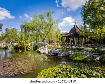 Los Angeles, APR 5: The beautiful Chinese Garden of Huntington Library on APR 5, 2019 at Los Angeles, California