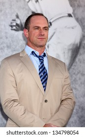 """LOS ANGELES - APR 9:  Christopher Meloni arrives at the """"42"""" Premiere at the Chinese Theater on April 9, 2013 in Los Angeles, CA"""