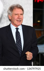 "LOS ANGELES - APR 9:  Harrison Ford arrives at the ""42"" Premiere at the Chinese Theater on April 9, 2013 in Los Angeles, CA"