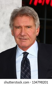 """LOS ANGELES - APR 9:  Harrison Ford arrives at the """"42"""" Premiere at the Chinese Theater on April 9, 2013 in Los Angeles, CA"""