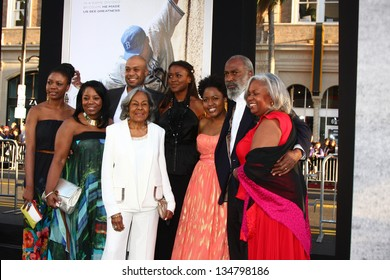 """LOS ANGELES - APR 9:  Rachel Robinson, and Family of Jackie Robinson arrives at the """"42"""" Premiere at the Chinese Theater on April 9, 2013 in Los Angeles, CA"""